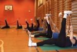 Gymnastikholdet i aktion på Holbergskolen
